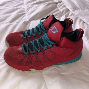 Jordan CP3 red and blue sneakers